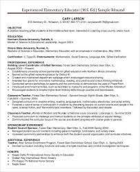 The Best Resume In The World by Free Teacher Resume 40 Free Word Pdf Documents Download Free