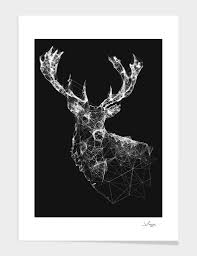 deer reader limited edition art print by jordan rogers from