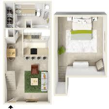 Loft Floor Plan Ideas by One Bedroom Floor Plan With Ideas Design 57039 Fujizaki