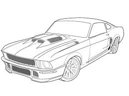 mustang coloring pages coloringsuite