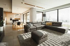 Modern Home Interior Decorating Poland Modern Home Interior Black White Light Wood Color Scheme 10