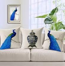 online get cheap peacock blue pillow aliexpress com alibaba group