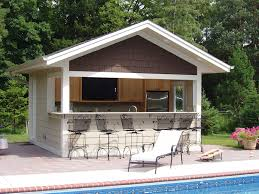 house plans with pools and outdoor kitchens build a bar into the side of your pool house where family can eat
