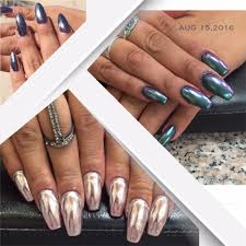 full set and chrome nails with gel color yelp