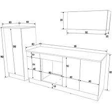 mesure cuisine dimension meuble four encastrable 9 buffet de cuisine sur mesure