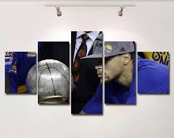 Curries Home Decor Stephen Curry Canvas Etsy
