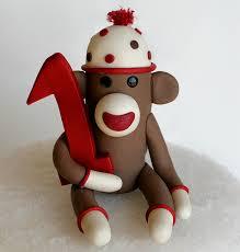 flickriver photoset u0027sock monkey birthday cake toppers u0027 by spiritmama