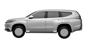 2016 mitsubishi challenger revealed in patent images photos 1 of 6