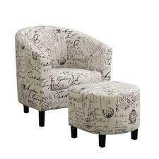 Ottoman Armchair Luxurious And Splendid White Armchair With Ottoman Living Room