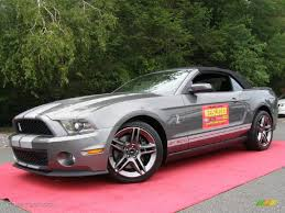 2011 Black Mustang 2011 Sterling Gray Metallic Ford Mustang Shelby Gt500 Convertible