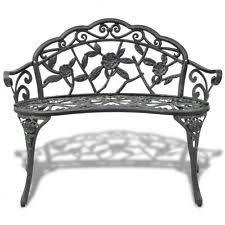 Cast Iron Loveseat Patio U0026 Garden Cast Iron Benches Ebay