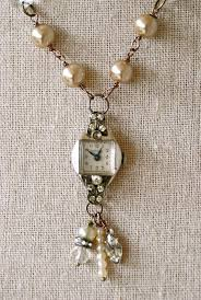 vintage crystal pendant necklace images Timeless vintage rhinestone watch necklace tiedupmemories jpg