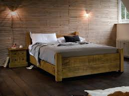 Cheap Canopy Bed Frame Rustic Wooden Bed Frame U2013 Bare Look
