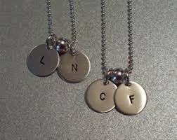 personalized mothers day necklace sted initial necklace personalized day necklace by
