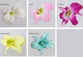 50 Pcs lot Kecil Laut Daun Bunga Sutra Cattleya Bunga Dekorasi