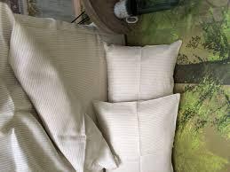 White Linen Duvet Linen Duvet Cover In Natural And White Pinstripe Linen 4 You