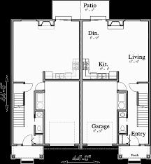 open floor plans with basement open floor duplex house plans with basement d 613
