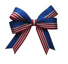 patriotic ribbon 4th of july usa flag ribbon patriotic hair bow in white