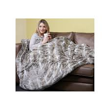 Faux Fur Electric Throw Dreamland Deluxe Heated Faux Fur Throw Dreamland From Powerhouse