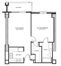 a floor plan floor plan a 688 sq ft the towers on park