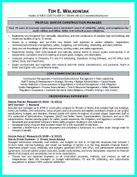 Resume Of Experienced Construction Manager Cool Construction Project Manager Resume To Get Applied