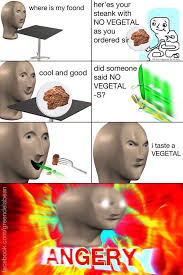 Vegetable Meme - no vegetal meme man know your meme
