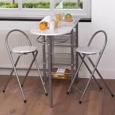 table bar de cuisine ensemble table bar 2 tabourets blancs some tiny studio