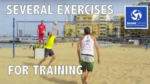 beach volleyball training several exercises for 2 and 3 people