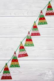 simple washi tape christmas trees garland mum in the madhouse