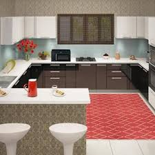 u shaped kitchen floor plans granite countertops mix stainless