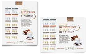 menu publisher template coffee shop poster template word publisher