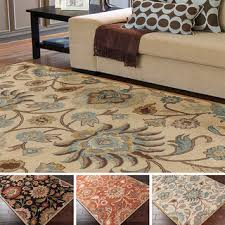 Flower Area Rug Tufted Alameda Traditional Floral Wool Area Rug 9 Inchi X 12
