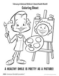 dental coloring pages dental health month coloring pages u2013 kids