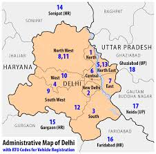 Delhi India Map by File Administrative Map Of Delhi With Rto Codes For Vehicle