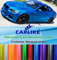 car wrapping paper carlike wholesale chrome mirror pvc material chrome car