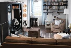 Brown Geometric Rug Most Picked Ikea Living Room Ideas Small Ideas Blue White Sofa