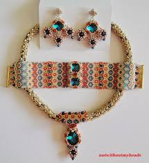 necklace beaded pattern images 1349 best beaded necklace patterns images beaded jpg