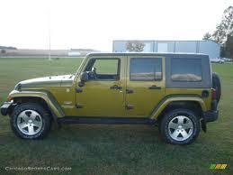 green jeep wrangler 2008 jeep wrangler unlimited sahara 4x4 in rescue green metallic
