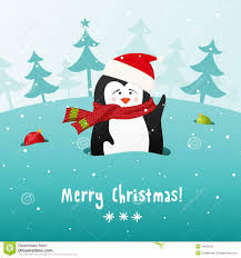 cute christmas penguin vector background stock photo image