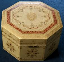 Yellow Decorative Box Pope St Pius X A Zucchetto In A Decorative Box Papal Artifacts