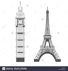 big ben and eiffel tower stock vector art u0026 illustration vector