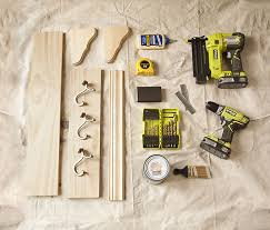 easy diy how to a decorative moulding hook rail