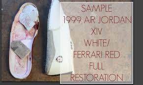 jordan ferrari white samples 1999 air jordan white ferrari red 14 full restoration