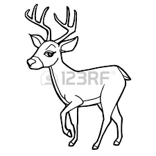 cartoon cute deer coloring vector illustration royalty free