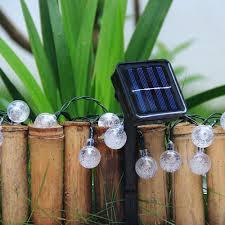 Outdoor Patio String Lights Globe by Amazon Com Innoo Tech Solar Globe String Lights 30 Led White