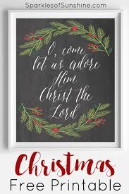 o come let us adore him christmas free printable