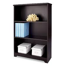 3 Shelf Bookcase With Doors Realspace Magellan Collection 3 Shelf Bookcase Espresso By Office