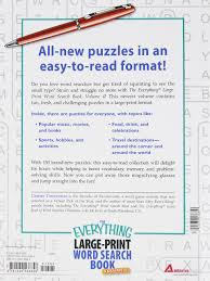the everything large print word search book volume iv 150 all