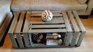 Wine Crate Coffee Table Diy by Rolling Rectangle Wood Crate Coffee Table Wood Crate Coffee