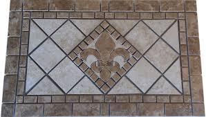 charro porcelain tile fleur dis lis mosaic medallion